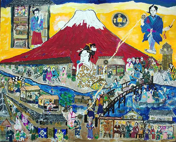 富士山と江戸時代の庶民の暮らしF30